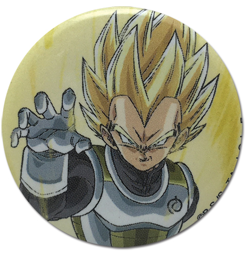 Dragon Ball Super - Ss Vegeta Pose Button 1.25'', an officially licensed product in our Dragon Ball Super Buttons department.