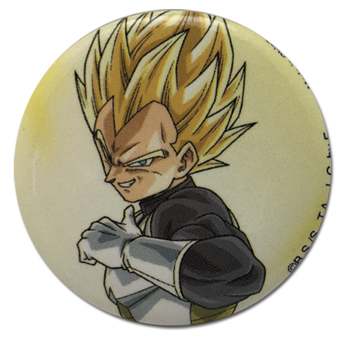 Dragon Ball Super - Ss Vegeta Ready To Fight Button 1.25'', an officially licensed product in our Dragon Ball Super Buttons department.