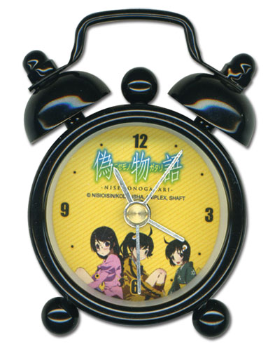 Nisemongatari Karen Tsukihi & Tsubasa Mini Desk Clock, an officially licensed product in our Nisemongatari Clocks department.