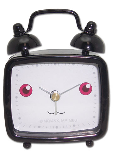 Madoka Magica Kyubey Mini Desk Clock, an officially licensed Madoka Magica product at B.A. Toys.