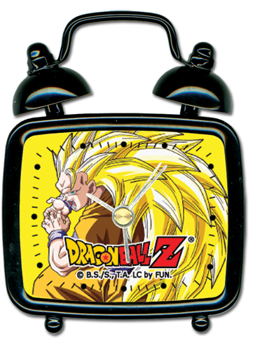 Dragon Ball Z Ss Goku Mini Desk Clock, an officially licensed Dragon Ball Z product at B.A. Toys.
