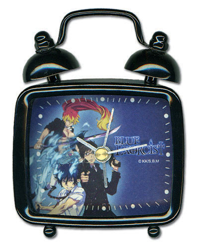 Blue Exorcist Rin, Yukio, & Shura Mini Desk Clock, an officially licensed product in our Blue Exorcist Clocks department.