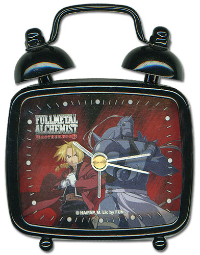 Fullmetal Alchemist Brotherhood Elric Brothers Mini Desk Clock officially licensed Fullmetal Alchemist Clocks product at B.A. Toys.