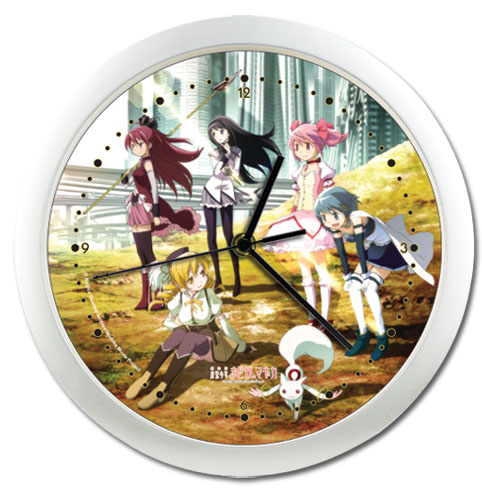 Madoka Magica Movie Group Shot Wall Clock, an officially licensed product in our Madoka Magica Clocks department.