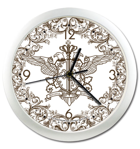 Black Butler Phantomhive Emblem Wall Clock, an officially licensed Black Butler product at B.A. Toys.