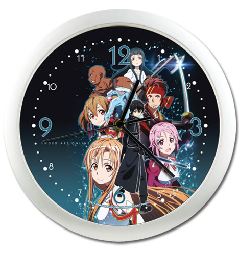 Sword Art Online Group Wall Clock, an officially licensed product in our Sword Art Online Clocks department.