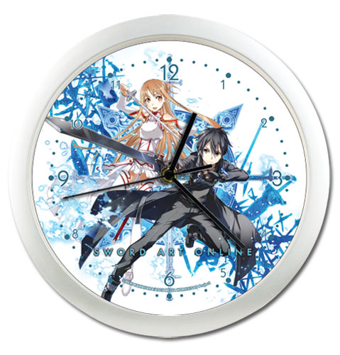 Sword Art Online Kiritno & Asuna Wall Clock, an officially licensed Sword Art Online product at B.A. Toys.