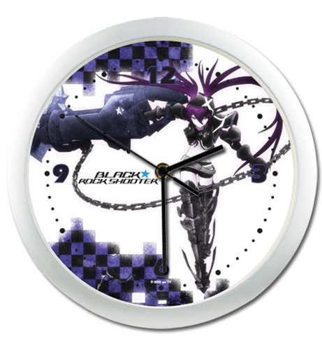 Black Rock Shooter - Insane Black Shooter Wall Clock, an officially licensed Black Rock Shooter Clock