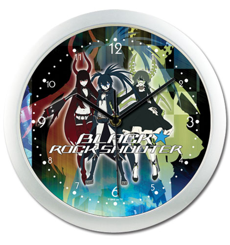 Black Rock Shooter - Group Wall Clock, an officially licensed Black Rock Shooter Clock