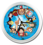 One Piece Straw Hat Pirates Wall Clock officially licensed product at B.A. Toys.