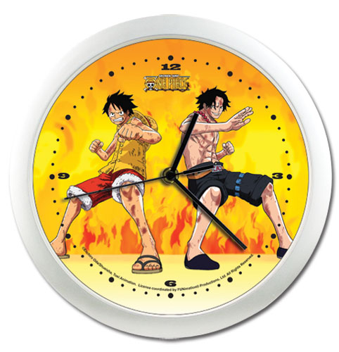 One Piece Luffy & Ace Wallclock, an officially licensed One Piece product at B.A. Toys.