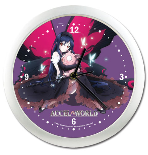 Accel World Kyroyukihime & Haru Wallsclock, an officially licensed product in our Accel World Clocks department.