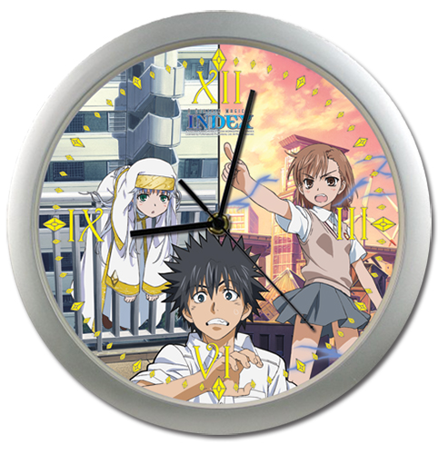 A Certain Magical Index Touma, Misaka, Index Wall Clock, an officially licensed A Certain Magical Index Clock