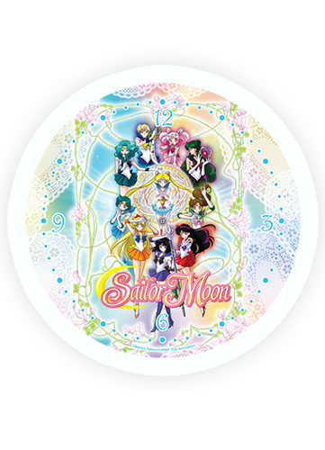 Sailormoon S Sailor Group Wall Clock officially licensed Sailor Moon Clocks product at B.A. Toys.
