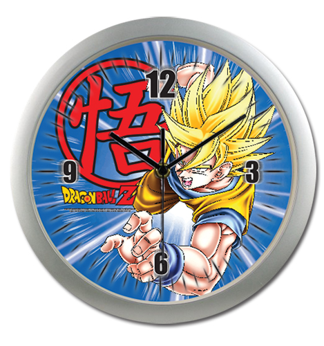 Dragon Ball Z Goku Wall Clock, an officially licensed Dragon Ball Z product at B.A. Toys.