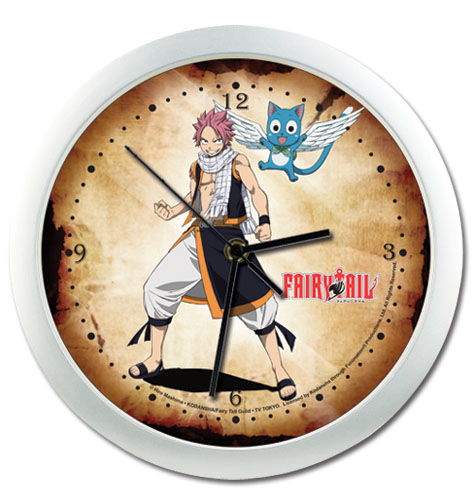 Fairy Tail Natsu & Happy Wall Clock, an officially licensed product in our Fairy Tail Clocks department.