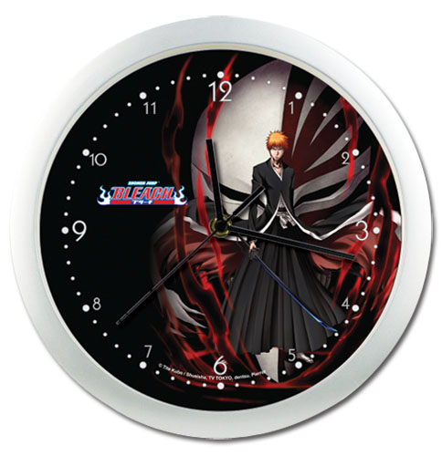 Bleach Ichigo Wallclock officially licensed Bleach Clocks product at B.A. Toys.