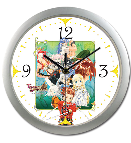 Tales Of Symphonia - Ps2 Keyart Wall Clock, an officially licensed Tales Of Symphonia product at B.A. Toys.
