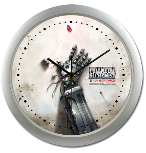 Fullmetal Alchemist Brotherhood - Ed's Automail Hand Clock officially licensed Fullmetal Alchemist Clocks product at B.A. Toys.