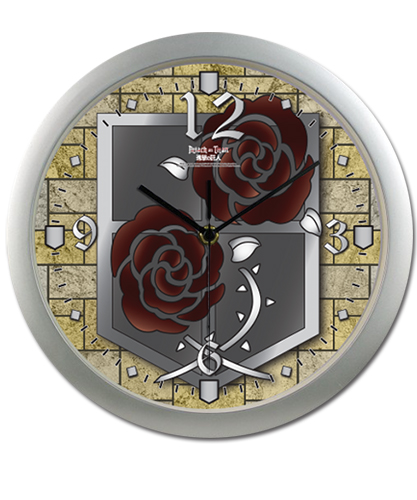 Attack On Titan - Garrison Regiment Wall Clock, an officially licensed Attack On Titan product at B.A. Toys.