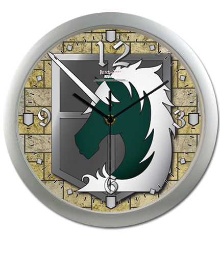 Attack On Titan - Military Police Wall Clock, an officially licensed Attack on Titan Clock