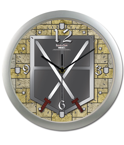 Attack On Titan - Cadet Corps Wall Clock, an officially licensed Attack on Titan Clock