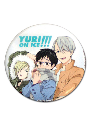 Yuri!!! On Ice - Group Casual 1.25 Button officially licensed Yuri!!! On Ice Buttons product at B.A. Toys.