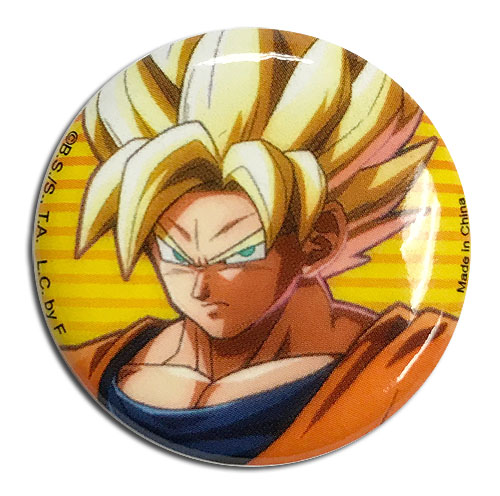 Dragon Ball Fighterz - Goku Button 1.25'' officially licensed Dragon Ball Fighter Z Buttons product at B.A. Toys.