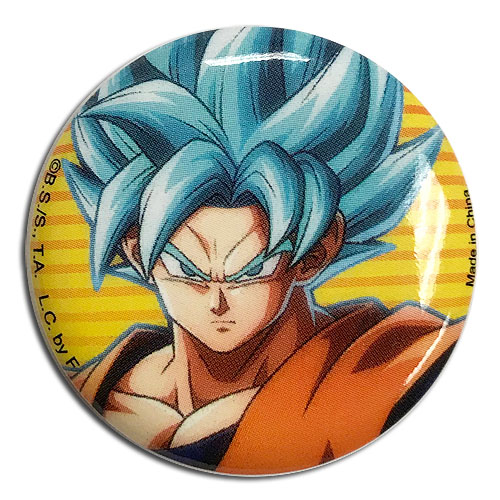 Dragon Ball Fighterz - Ssgss Goku Button 1.25'' officially licensed Dragon Ball Fighter Z Buttons product at B.A. Toys.