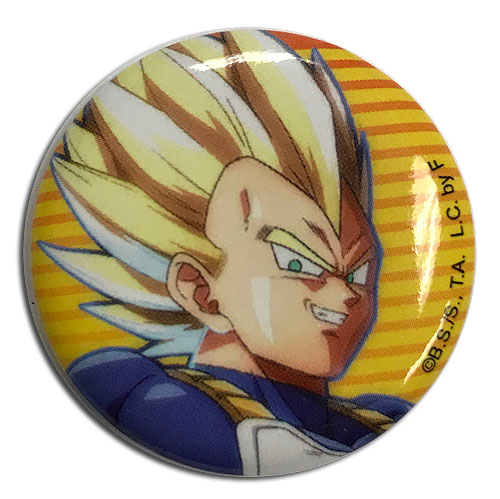 Dragon Ball Fighterz - Vegeta Button 1.25'' officially licensed Dragon Ball Fighter Z Buttons product at B.A. Toys.