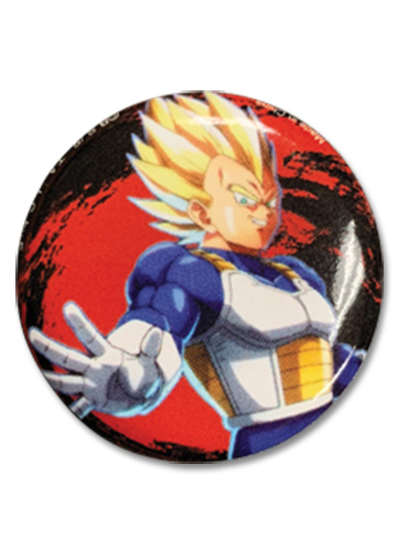 Dragon Ball Fighterz - Vegeta Button officially licensed Dragon Ball Fighter Z Buttons product at B.A. Toys.