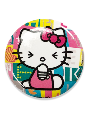 Hello Kitty - Hello Kitty Button 1.25'', an officially licensed product in our Hello Kitty Buttons department.