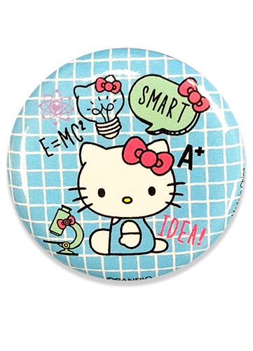 Hello Kitty - Hello Kitty With Idea Button 1.25'', an officially licensed product in our Hello Kitty Buttons department.