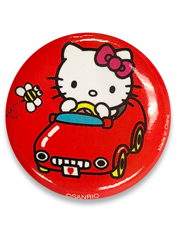 Hello Kitty - Hello Kitty In The Car Button 1.25