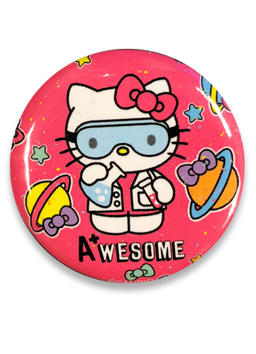Hello Kitty - Science Hello Kitty Button 1.25