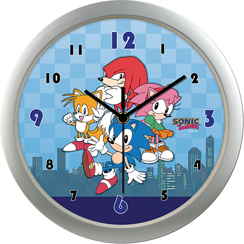 Sonic Classic - Main Group With City Wall Clock, an officially licensed product in our Sonic Clocks department.