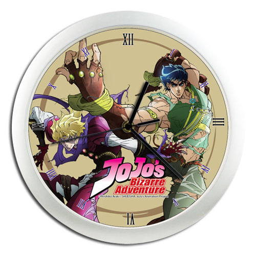 Jojo - Jonathan & Dio Wall Clock, an officially licensed product in our Jojo'S Bizarre Adventure Clocks department.