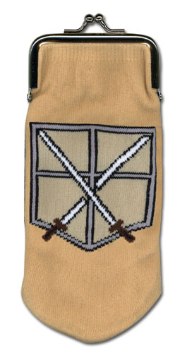 Attack On Titan - Cadet Corps - Knitted Coin Purse, an officially licensed Attack On Titan product at B.A. Toys.