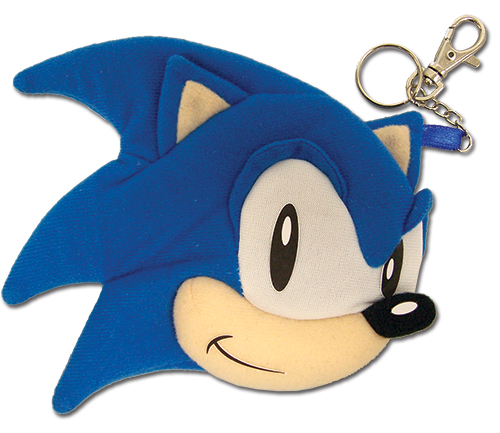 Classic Sonic - Sonic Face Coin Purse, an officially licensed Sonic product at B.A. Toys.