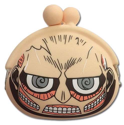 Attack On Titan - Sd Titan Silicon Coin Purse, an officially licensed product in our Attack On Titan Wallet & Coin Purse department.