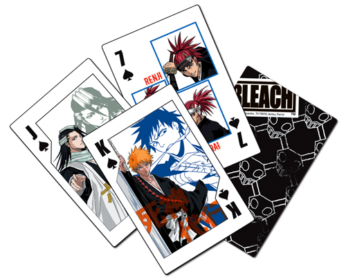 Bleach Shinigami Playing Cards, an officially licensed Bleach product at B.A. Toys.