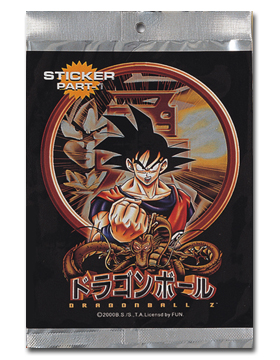 Dragon Ball Z Foil Sticker Pak (part-1) officially licensed product at B.A. Toys.