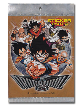 Dragon Ball Z Foil Sticker Pak (part-2) officially licensed product at B.A. Toys.