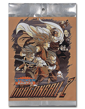 Dragon Ball Z Foil Sticker Pak (part-3) officially licensed product at B.A. Toys.