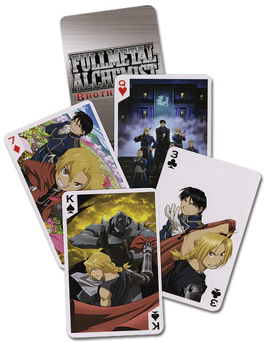 Full Metal Alchemist Brotherhood Playing Cards officially licensed product at B.A. Toys.