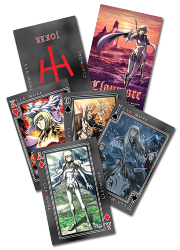 Claymore Playing Cards officially licensed product at B.A. Toys.
