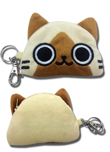 Airou From The Monster Hunter - Airou Coin Purse 4''W, an officially licensed Airou From The Monster Hunter product at B.A. Toys.