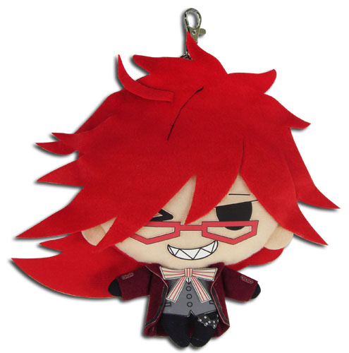 Black Butler - Grell Plush Coin Purse 7'', an officially licensed product in our Black Butler Wallet & Coin Purse department.