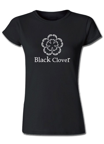 Black Clover - Five-Leaf Clover Jrs T-Shirt S, an officially licensed Black Clover product at B.A. Toys.