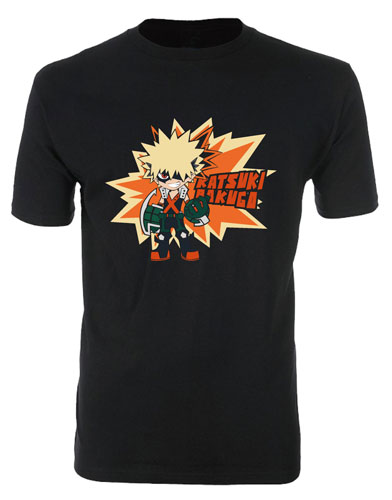 My Hero Academia - Bakugo Sd Men's T-Shirt M officially licensed My Hero Academia T-Shirts product at B.A. Toys.